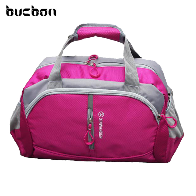 b92c377a34 Bucbon 20L Medium Size Two Side Pockets Sports Bag For Gym Yoga Fitness  Training Waterproof Shoulder