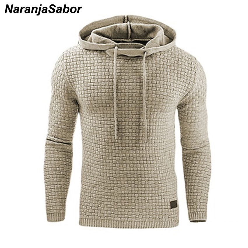 Autumn Men's Slim Hooded Sweatshirts 5