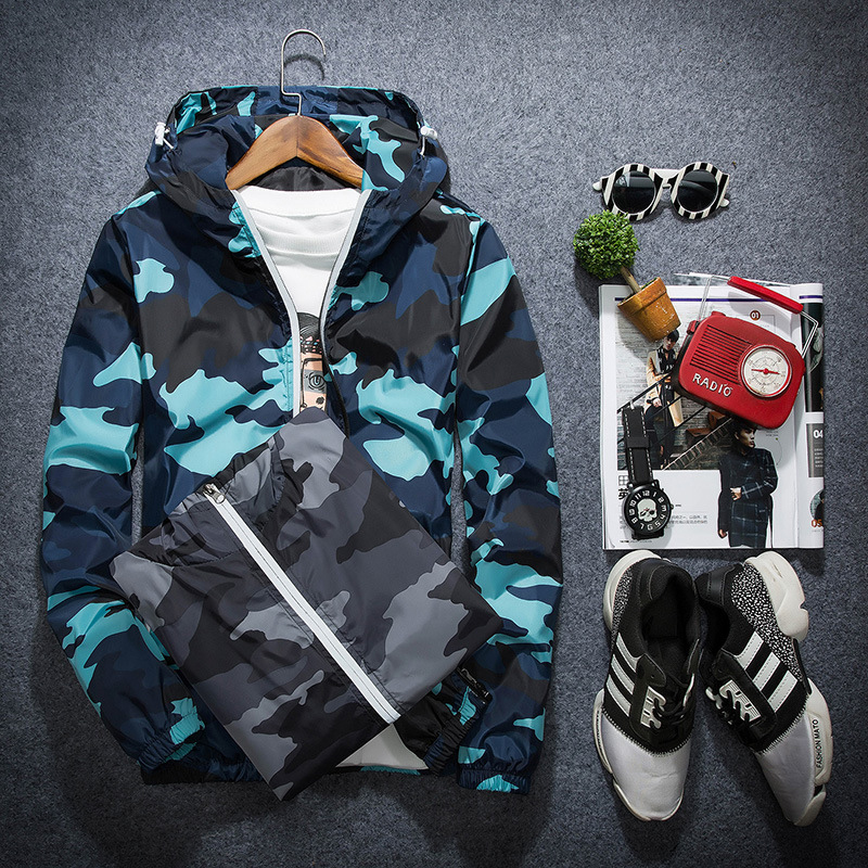 Бренд для мужчин Модная Спортивная Плюс размеры XXXL пальто Топы корректирующие ветровка верхняя одежда филиал армии Камуфляжный принт