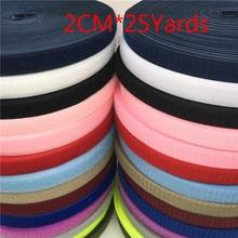 20mm 13 colori nylon Hasp gancio e anello chiusura nastro magico vestiti accessori fai da te patchwork adesivo fissaggio nastro 25 yards / rotolo