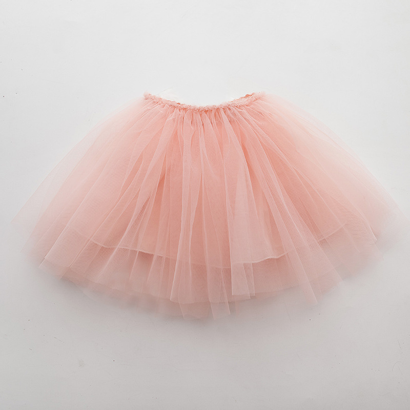 Tutu Skirt Tulle Girls Skirts Knee Length For Kids School Dance Fluffy Red Black Grey Color Princess Style Girls Clothes  4