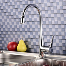 X8218K1-Роскошные Бортике Хромированная Отделка Горячая и Холодная Вода Латунь Кухня Раковина Кран