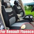 Asientos personalizados para Renault Fluence 2014/2015 funda de cojín de asiento de coche sándwich cubierta de asiento de coche accesorios interior styling logo