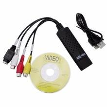 USB EasyCAP 2,0 легко колпачок Видео ТВ DVD VHS DVR колпачок адаптер туры Легкий колпачок USB видео крышка устройства поддержка Win10