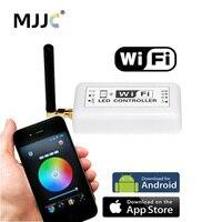 Wi-fi RGB LEVOU Controlador 12 V 24 V 12A App Android Wifi Mini Controlador Dimmer para RGB Branco Dupla Cor Única LED Luz de Tira