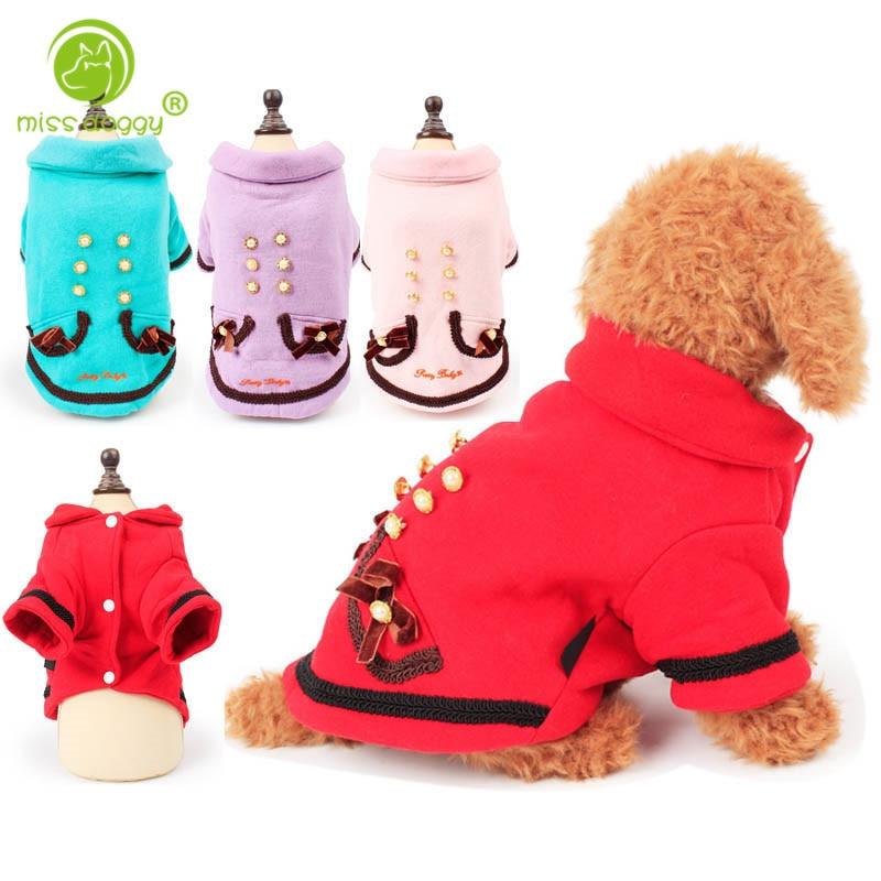 ჱnew Warm Fleece Pet Coat Winter Dog Clothes Cute Puppy Button