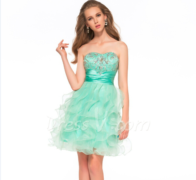 Aliexpress.com : Buy Pretty Mint Green Homecoming Dresses 2015 ...