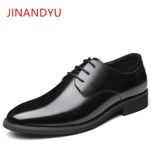 где купить Men Formal Shoes Genuine Leather Men Oxford Lace Up Wedding Party Man Black Brown Dress Shoes Handmade Gentry Business Oxfords по лучшей цене