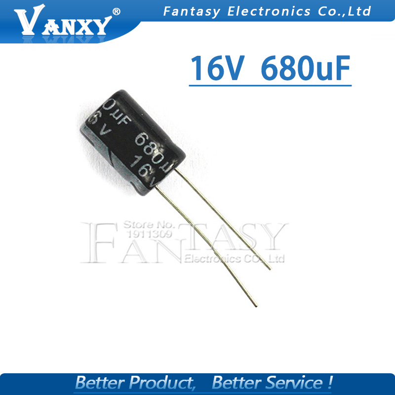 50PCS Higt Quality 16V680UF  8*12mm 680UF 16V 8*12 Electrolytic Capacitor