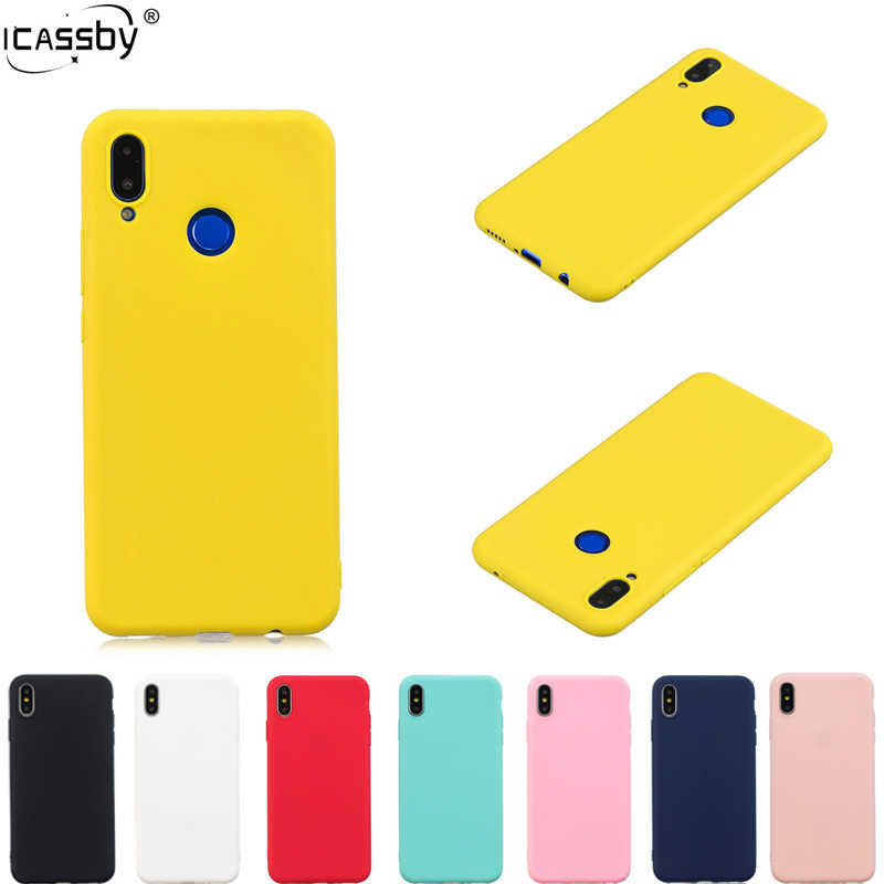 d2db665fecf802 Rubber TPU Silicone Case For Huawei Nova 3i Candy Color Soft TPU Back Cover  For Coque