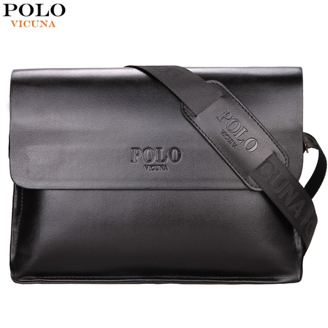 POLO Leather Men Bag Business Casual Messenger Bag High Quality Men's Brand Black/Brown Man Crossbody Bags For Travel