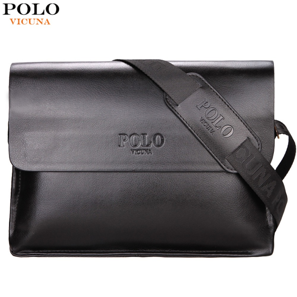 VICUNA POLO Leather Men Bag Business Casual Messenger Bag High Quality Men's Brand Black/Brown Man Crossbody Bags For Travel vicuna polo new arrival brand business men s shoulder bag square design casual men bag promotion leisure messenger bag top sell