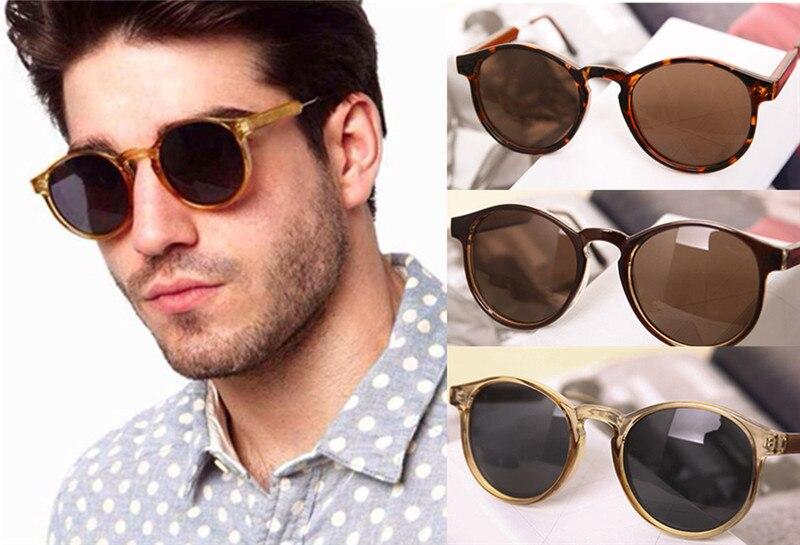 2015 Mode Vintage Transparent Cadre Rond lunettes de Soleil Femmes Hommes Unisexe Super Cool UV400 Protection Lunettes Livraison Gratuite