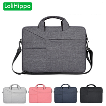 LoliHippo Laptop Wool Felt Bag 13.3 14.1 15.4 15.6 Inch Notebook Briefcase for Apple Macbook Dell HP Sony Laptop Messenger Bags