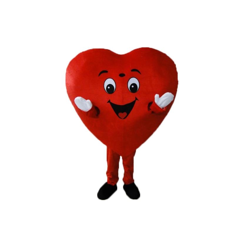 Coeur rouge de adulte mascotte Costume taille adulte fantaisie coeur mascotte Costume livraison gratuite