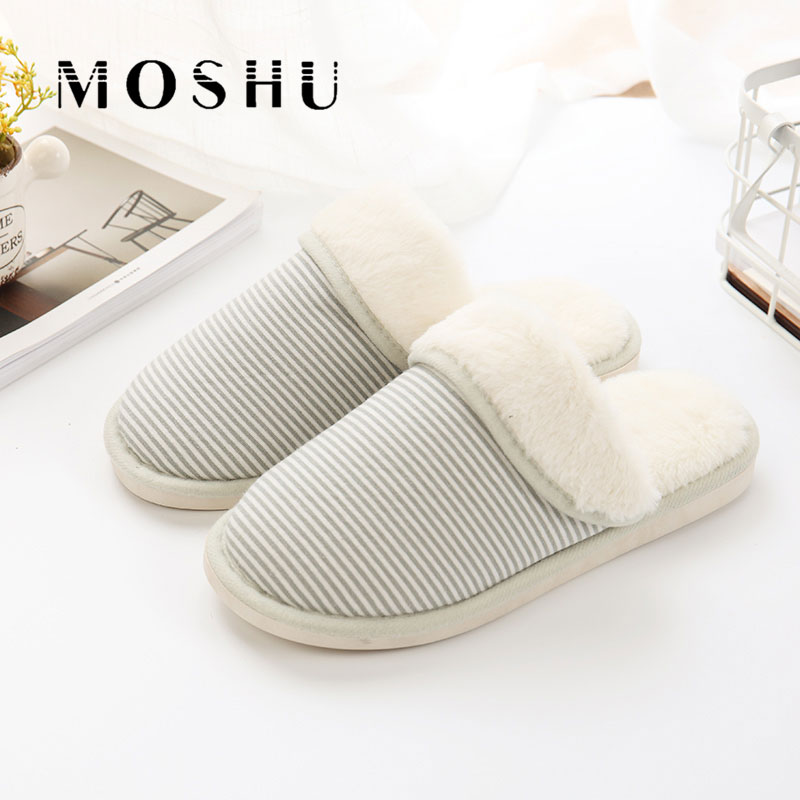 Winter Women  Indoor Slippers Home Plush Ladies Shoes Warm Female Fur Slippers Antiskid Slides Chaussure Femme flat fur women slippers 2017 fashion leisure open toe women indoor slippers fur high quality soft plush lady furry slippers