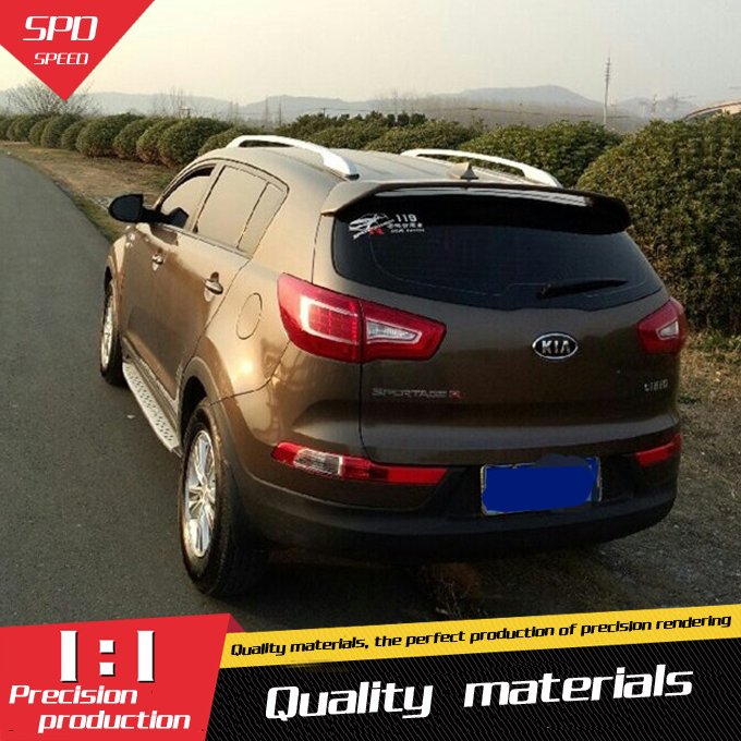 for kia sportage r spoiler high quality abs material car. Black Bedroom Furniture Sets. Home Design Ideas