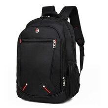 Мужской рюкзак повседневный сплошной цвет материал Оксфорд Мультифункциональный большой емкости Студенческая школьная сумка простая сумка для ноутбука Рюкзаки