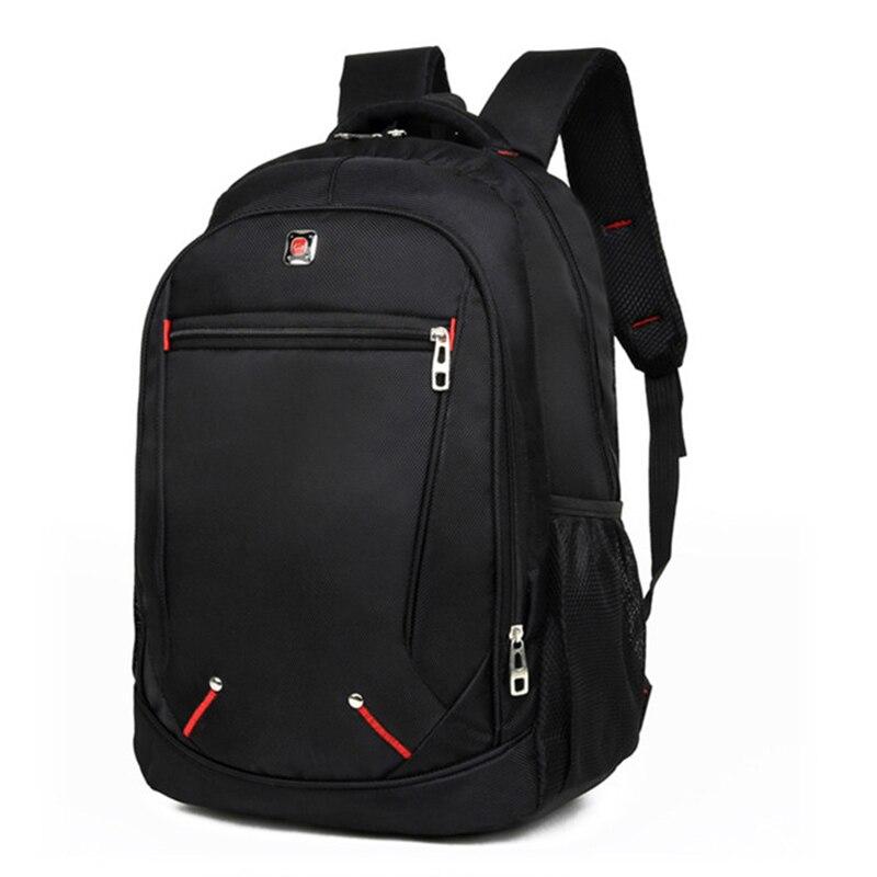 Mochila De hombres Casual Color sólido Material Oxford Multi-funcional de gran capacidad estudiante mochila bolsa Simple mochilas para portátiles