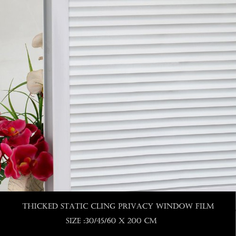 WXSHSH Louver pattern Privacy Window Film Home Decor No Glue 3D Static Decorative Glass Sticker Kitchen Size 75 400 cm in Decorative Films from Home Garden