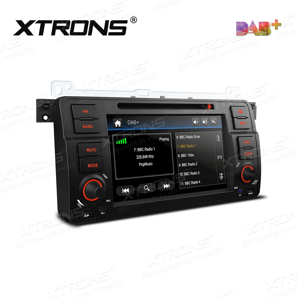 7 DAB+ 1 Din Radio Car DVD Player GPS For BMW E46 Sedan Coupe Convertible Touring Hatchback M3 Rover 75 MG ZT CANBus RDS Stereo image