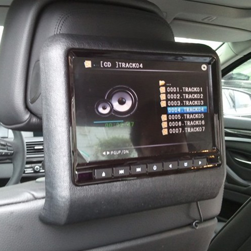 Liplasting 9 LCD Screen Car Headrest Monitor DVD Player USB SD FM IR Transmitter Touch Button Built In Speaker 1PC Monitors From Automobiles
