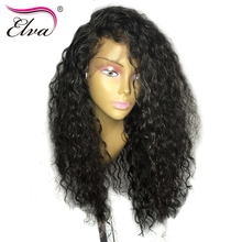 Elva Hair Pre Plucked Lace Front Human Hair Wigs Bleached Knots With Baby Hair Brazilian Remy Hair Curly Wigs For Black Women