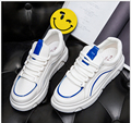 2017 Spring New  leather face white shoe women's casual shoe canvas shoe breathable flat with lace-up Platform Student Shoes