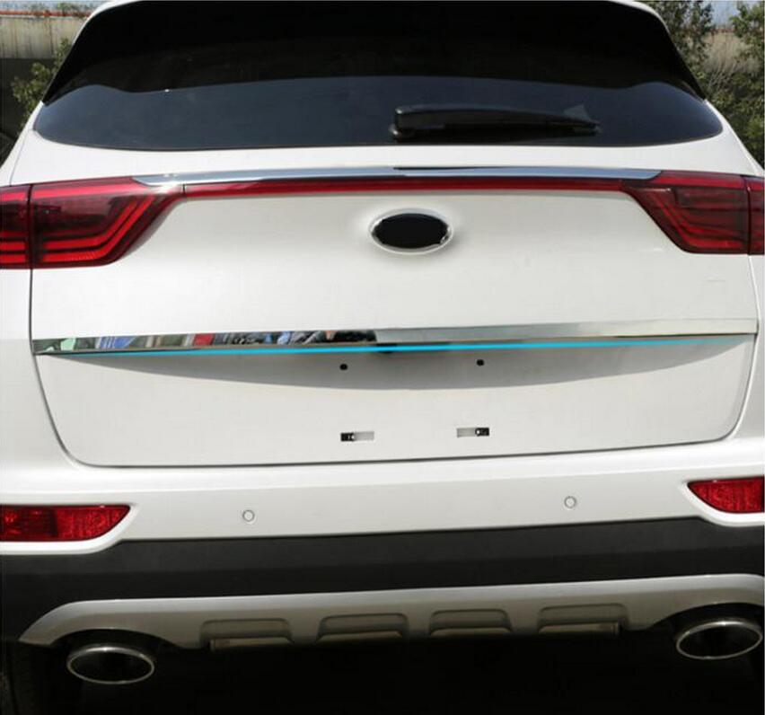 CHROME REAR TRUNK LID COVER TAILGATE TRIM HATCH BACK DOOR HANDLE MOLDING BOOT GARNISH STRIP FIT FOR 2016 2017 KIA SPORTAGE