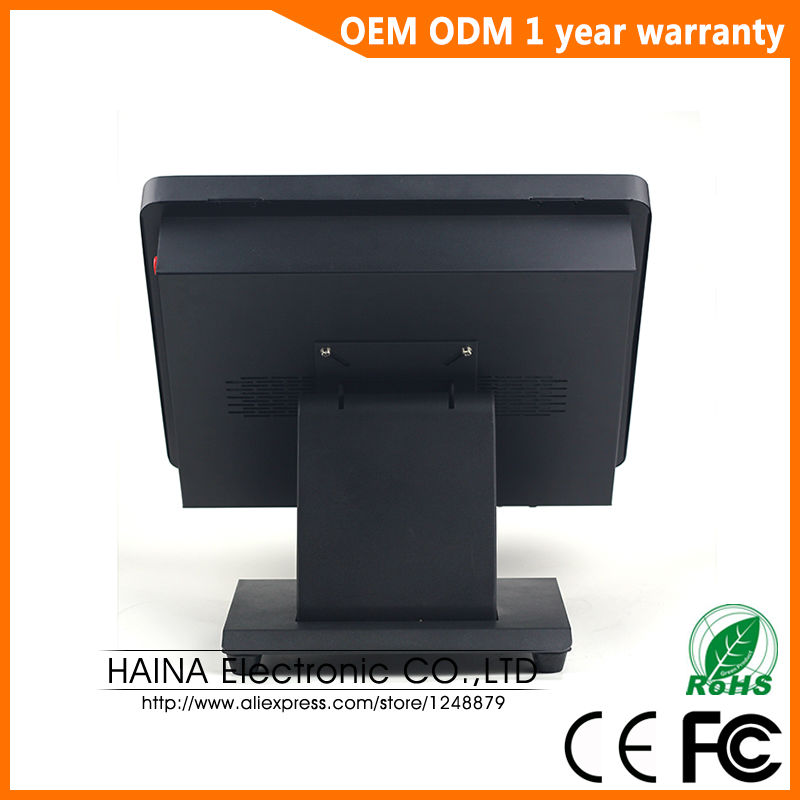 Image 4 - Haina Touch 15 inch Metal Wall Mount and Desktop Touch Screen All In One POS System-in Desktops from Computer & Office