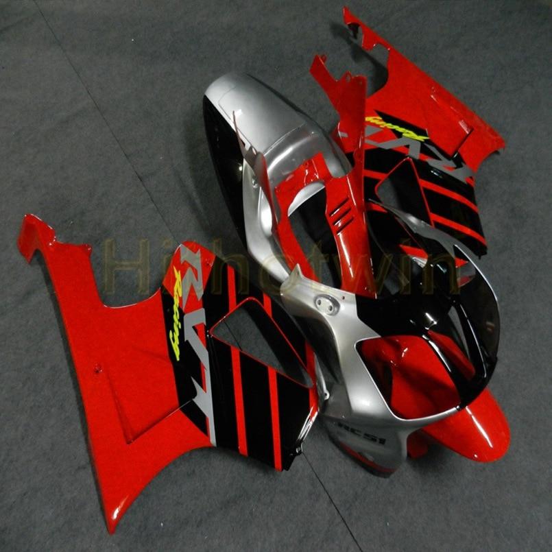Custom Motorcycle Cowl For VTR 1000 SP1 2000 2001 2002 2003 2004 2005 2006 RC51 ABS Motor Fairings+Screws+red Silver Black