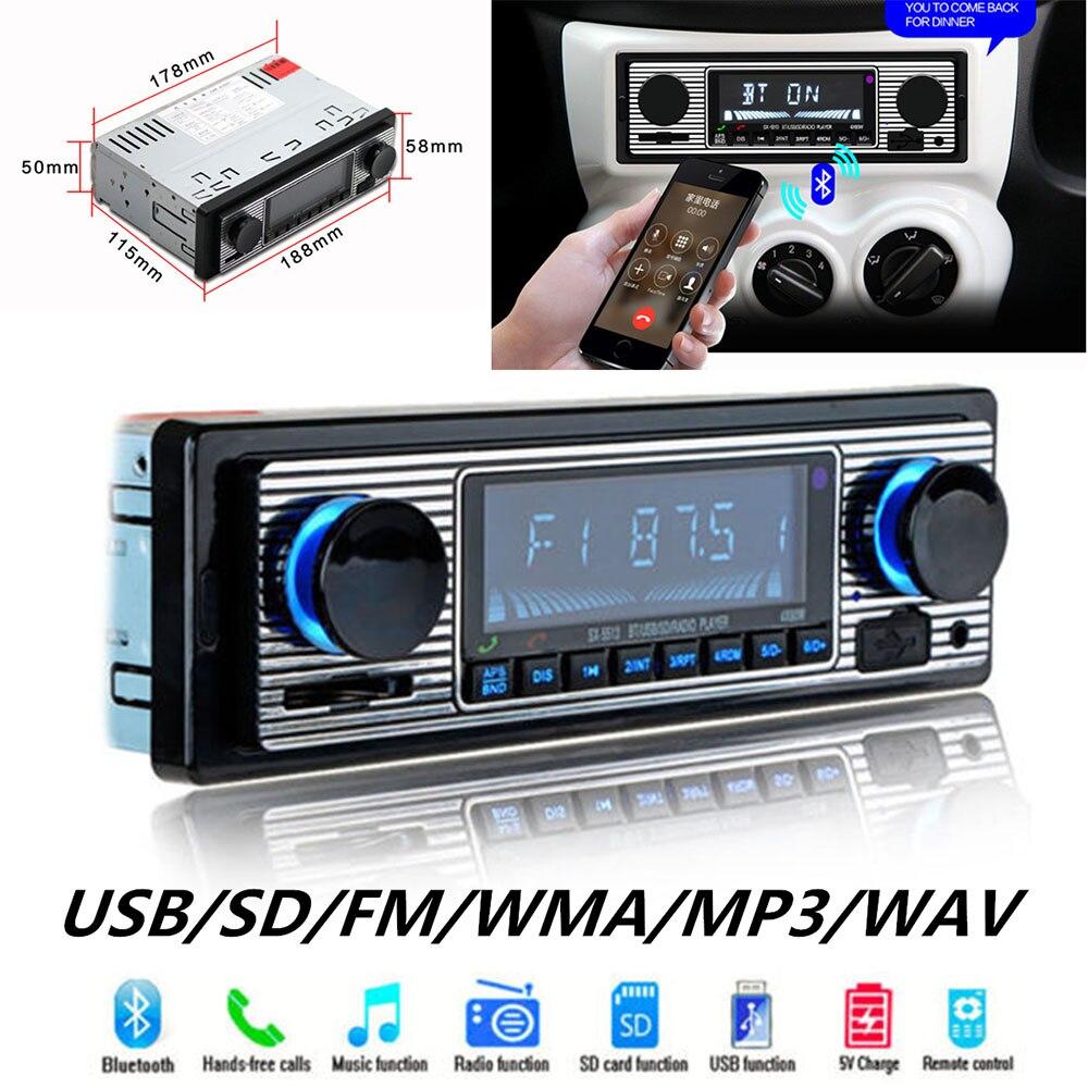 Car USB FM Retro Radio Classic Auto Radio Player Bluetooth Stereo Vehicle Avtagnitola Retro Car Radio Bluetooth MP3 Player