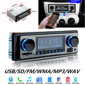 Image 1 - รถ USB FM วิทยุ Retro คลาสสิกวิทยุอัตโนมัติเครื่องเล่นบลูทูธสเตอริโอรถ avtagnitola Retro รถวิทยุบลูทูธ MP3 ผู้เล่น