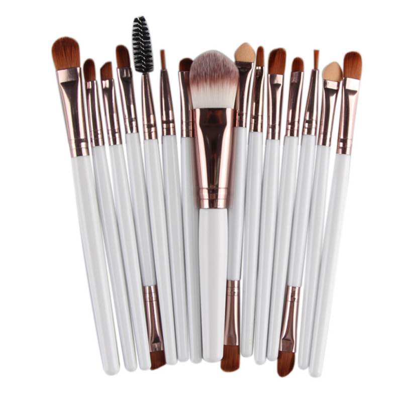 Best Deal New 15 pcs Professional Makeup Brush Set tools Blusher Foundation Eye Brush Make-up Toiletry Kit Wool Cosmetic Brush new professional 15 pcs makeup brushes set tools make up toiletry kit make up brush set case cosmetic foundation brush
