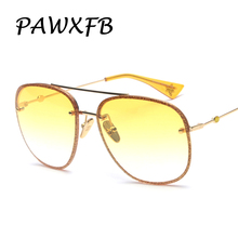 Pop Age 2018 New Italy Brand Designed pilot Sunglasses Women Men Metal glittery Frame Sun Glasses Luxury Eyewear Lentes de sol