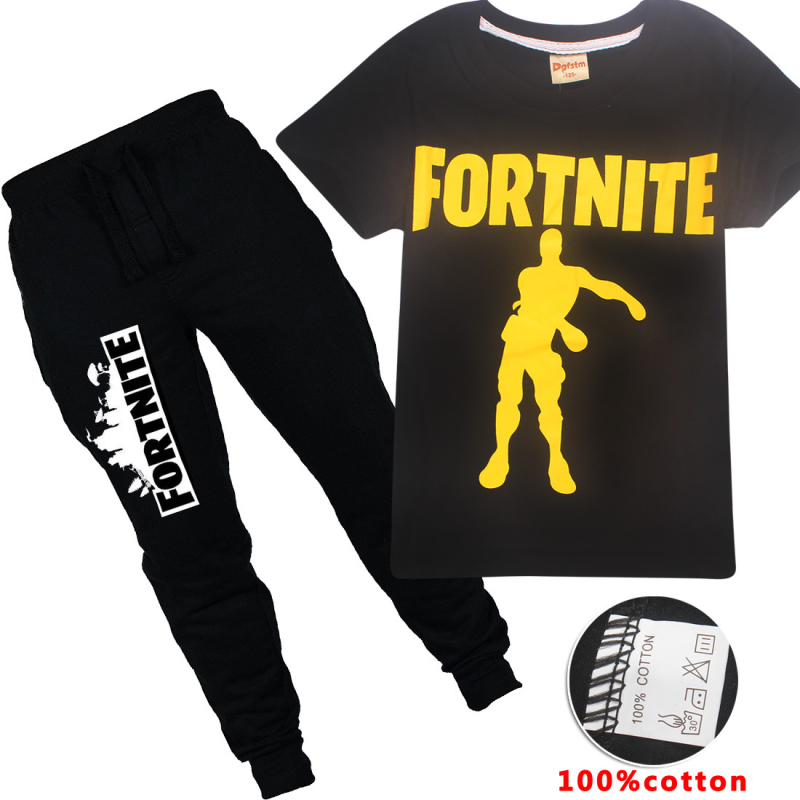 Tracksuit for Boys Children Clothing Kids Clothes Sports Suit Boys & Girls Letter Printed Game Fortnite T-shirt + Long Pants 2pc