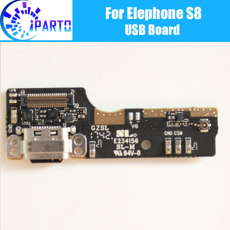 Elephone S8 usb board 100% Original New for usb <font><b>plug</b></font> charge board Replacement Accessories for Elephone S8 <font><b>Cell</b></font> <font><b>Phone</b></font>