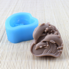 Nicole Dolphin Shape Silicone Mold for Natural Handmade Soap Craft Resin Clay Chocolate Candy Mould