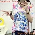 Adorable verano lindo animado suave patrón mujeres niñas clothing sweet lolita japón kawaii rainbow unicorn camisetas superior femenina