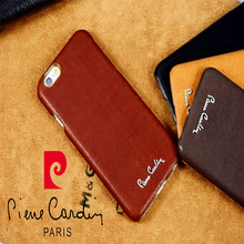 """For Apple iPhone 6/6s 4.7"""" Phone case Pierre Cardin Fashion Genuine Leather Hard Back Case Cover Colors"""