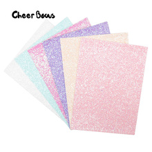 22*30CM Candy Glitter Leather Fabric Sweet Color Chunky Sheet For Kids Gifts Making Patchwork Crafts Home Decorative Materials