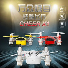 2016 Hot sell Micro Nano Cheer X1 3D Flip 4CH 2.4GHz 6 Axis Gyro with headless function Mini Nano Ladybird RC Toys vs FQ777-124