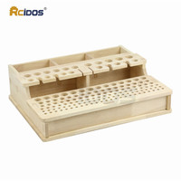 DB01 Solid Wood tools rack for leather craft work tools Wooden Storage