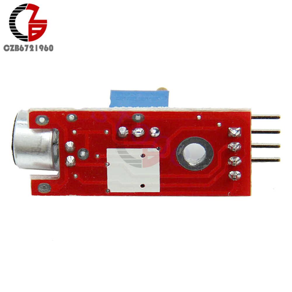 Módulo de detecção de sensor de som de microfone sensível alto para arduino avr pic dc 5 v fonte de alimentação saída analógica