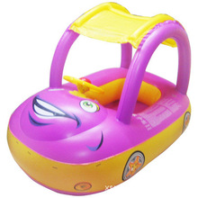 Baby Swim Ring Sunshade Steering wheel Safe Holiday Floating Summer Kids Seat Inflatable Swimming boat toys Water pool tube