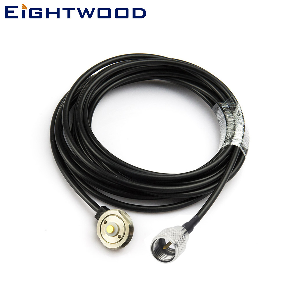 Eightwood Nouveau Véhicule Antenne NMO Mount 3/4 Pouces Trou Avec 500 cm RG58 Câble Mini UHF Connecteur