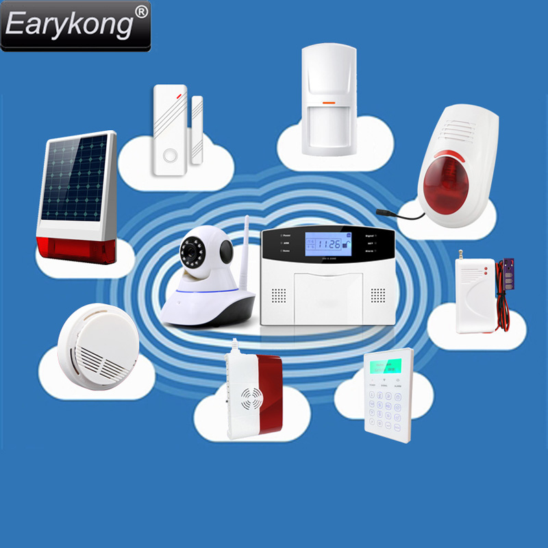 Wireless Detector Alarm For Your Home Burglar Wifi / GSM Alarm System , Compatible Most 433MHz alarm system in the market the most popular gold detector