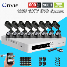 TEATE CCTV 16 Channel IR indoor outdoor waterproof video Surveillance Camera security Kit HDMI 1080P dvr Recorder System CK-223