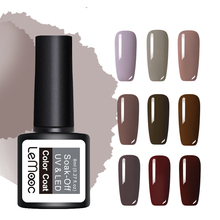 LEMOOC 8ml Nude Pink Series Nail Gel Polish 50 Pure Colors Soak Off UV Gel Varnish Nail Art Lacquer Gel for Nail Manicure Design