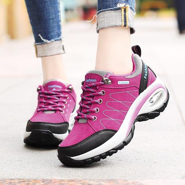 Women's Platform Casual Shoes Fashion Brand Outdoor Air Cushion Sneakers Ladies Footwear Female Tenis Feminino Zapatillas Mujer